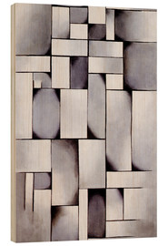 Hout print  Composition in Gray (Rag-time) - Theo van Doesburg