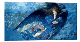 Acrylglas print  Night with her train of stars - Edward Robert Hughes