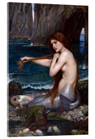 Acrylglas print  The mermaid - John William Waterhouse