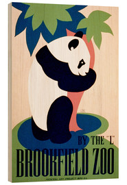 Hout print  Brookfield Zoo - Advertising Collection