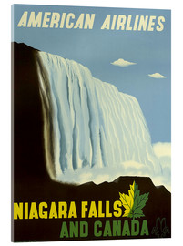 Acrylglas print  American Airlines Niagara Falls and Canada - Travel Collection