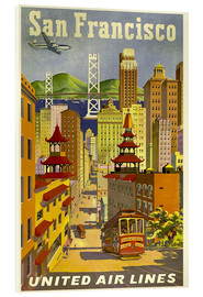 Acrylglas print  United Airlines, San Francisco - Travel Collection