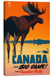 Canvas print  Canada travel for big game - Travel Collection