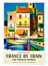 Premium poster France by train