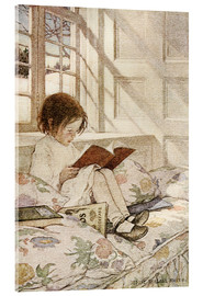 Acrylglas print  Picture books in winter - Jessie Willcox Smith