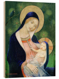 Hout print  Madonna and Child - Marianne Stokes