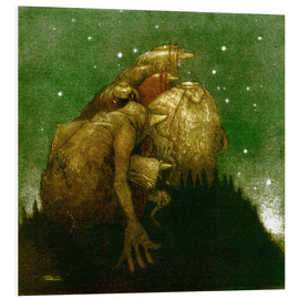 PVC print  Trolls in the Starlight - John Bauer
