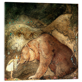 Acrylglas print  Poor little bear - John Bauer
