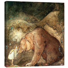 Canvas print  Poor little bear - John Bauer