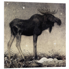 PVC print  Moose Skutt and Princess Tuvstarr - John Bauer