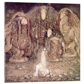 Acrylglas print  The shining princess - John Bauer