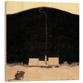 Hout print  The house at the foot of the mountain - John Bauer