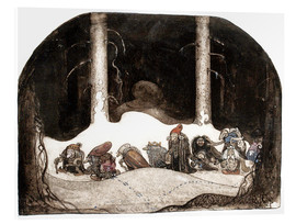 Acrylglas print  In the christmas night - John Bauer