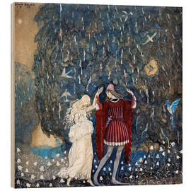 Hout print  Lena dances with the knight - John Bauer