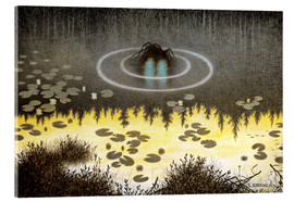 Acrylglas print  Nøkken, The Monster of the Lake - Theodor Kittelsen