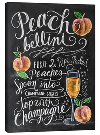 Canvas print  Peach Bellini recipt (Engels) - Lily & Val