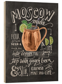 Hout print  Moscow Mule - Lily & Val