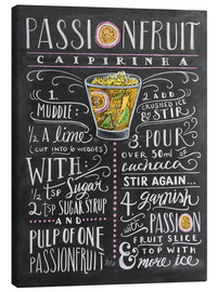 Canvas print  Passion Fruit Caipirinha recipe - Lily & Val