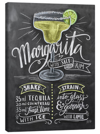 Canvas print  Margarita recept (Engels) - Lily & Val