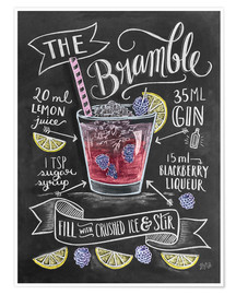 Premium poster  Bramble cocktail - Lily & Val