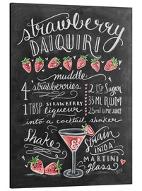 Aluminium print  Strawberry Daiquiri recept (Engels) - Lily & Val