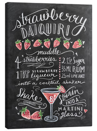 Canvas print  Strawberry Daiquiri recept (Engels) - Lily & Val