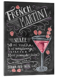 Acrylglas print  French Martini recept (Engels) - Lily & Val