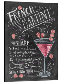 Aluminium print  French Martini recept (Engels) - Lily & Val