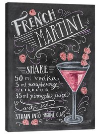 Canvas print  French Martini recept (Engels) - Lily & Val