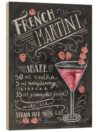 Hout print  French Raspberry Martini recipe - Lily & Val