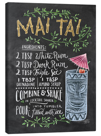 Canvas print  Mai Tai recept (Engels) - Lily & Val