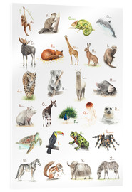 Acrylglas print  ABC animals (German) - Nadine Conrad