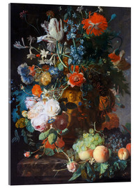 Acrylglas print  Still Life with Flowers and Fruit - Jan van Huysum