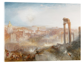 Acrylglas print  Modern Rome - Joseph Mallord William Turner