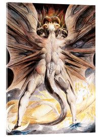 Acrylglas print  The great red dragon and the woman with the sun - William Blake