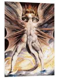 PVC print  The Great Red Dragon and the Woman Clothed with Sun - William Blake