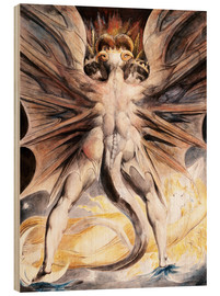 Hout print  The great red dragon and the woman with the sun - William Blake