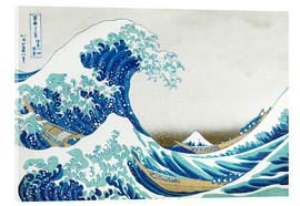Acrylglas print  The big wave off Kanagawa - Katsushika Hokusai
