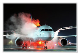 Premium poster De-icing of an Airbus A320