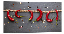 Acrylglas print  red hot chilli peppers with spice - pixelliebe