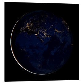 Acrylglas print  Africa at night - NASA