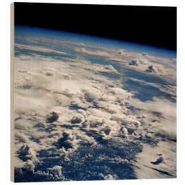 Hout print  Thunderstorms, space shuttle image - NASA