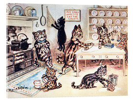 Acrylglas print  The Picture Book of Kittens 13 - Louis Wain