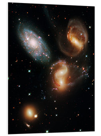 PVC print  Stephan's Quintet galaxies, HST image - NASA