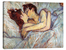 Canvas print  In bed, de kus - Henri de Toulouse-Lautrec