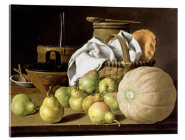 Acrylglas print  Still Life with Melon and Pears - Luis Egidio Meléndez