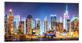 Acrylglas print  New York Midtown Skyline by Night - Sascha Kilmer