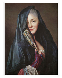 Premium poster  Lady with veil - Alexander Roslin