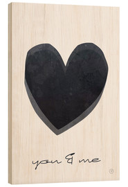 Hout print  You & me - m.belle