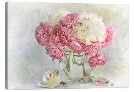 Canvas print  roses and peonies - Lizzy Pe